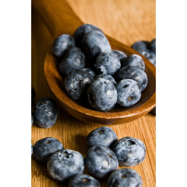Blueberry juice is high in antioxidants.