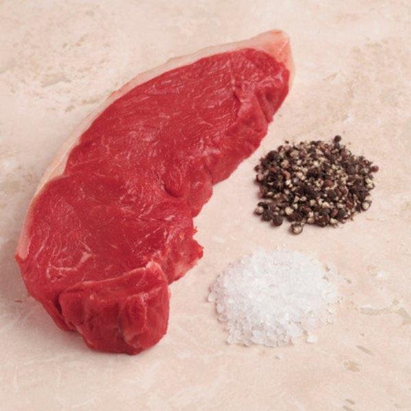 Tenderize pepper steak with sea salt before cooking it.