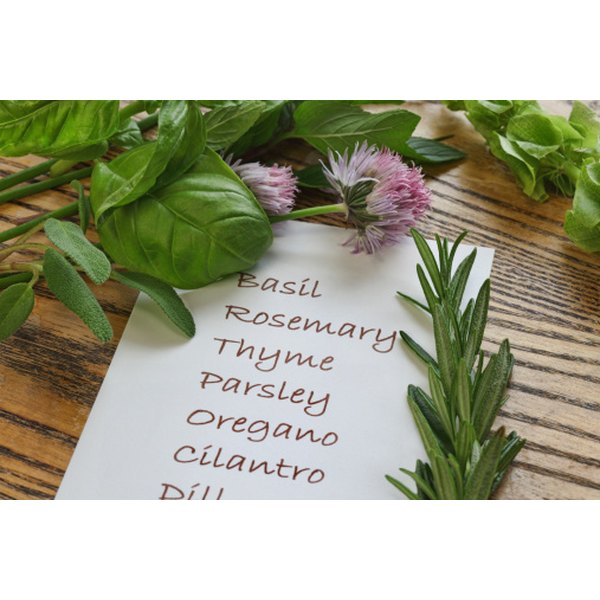 Many culinary herbs also have medicinal applications when vaporized.