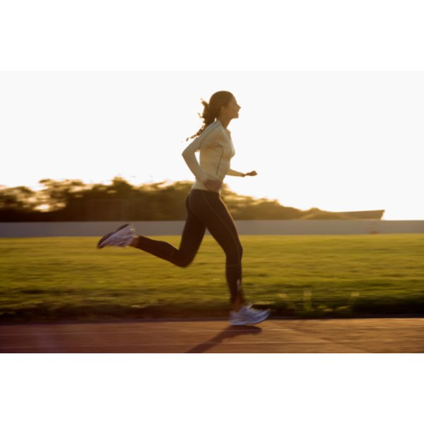 Running can improve a woman's health and fitness.