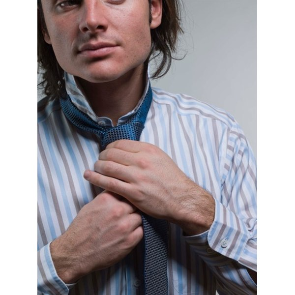 Tying a tie European style makes a wide knot.