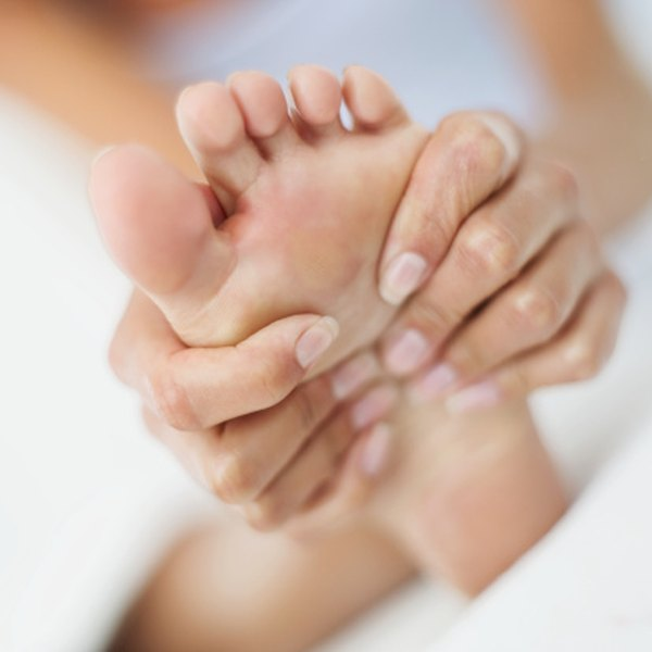 Peripheral neuropathy can cause tingling and pain in the feet.
