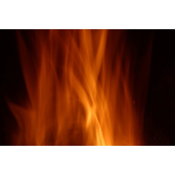 Soft-focused flame patterns are one part of fire effect lighting.