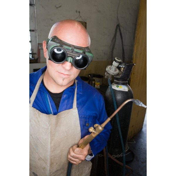 Use a pair of welding goggles to create a Helghast costume.