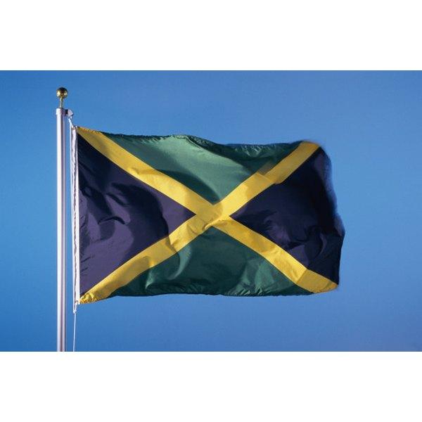 Black represents burdens, yellow represents sunshine, green represents hope in Jamaica's flag.