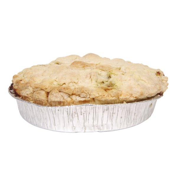 A puff pastry pie crust can be pre-baked to keep it flaky.