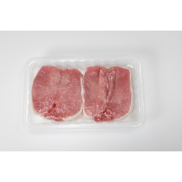 Boneless pork chops should have a light pink color, little marbled fat and be firm to the touch.