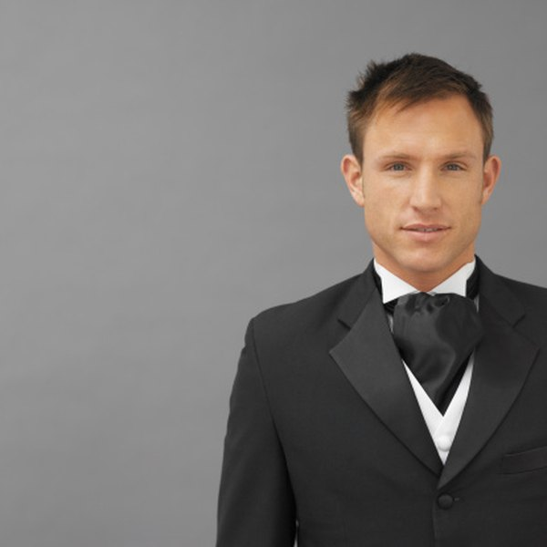 A cravat is an optionin lieu of a tie which can be worn with a tuxedo or other formal wear.