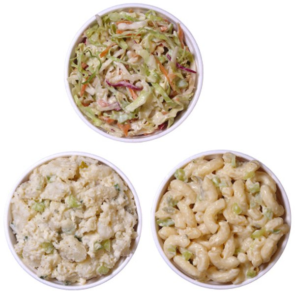 Combine Miracle Whip and mayonnaise to make the dressing for macaroni salad.