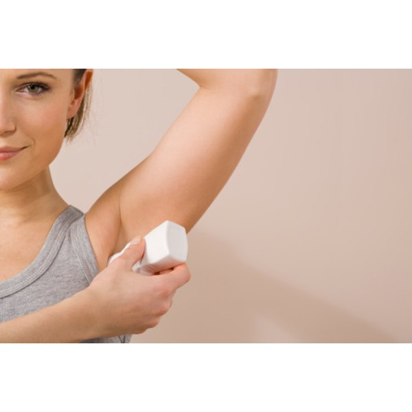 Homemade baking soda deodorant works as well as commercial deodorants.