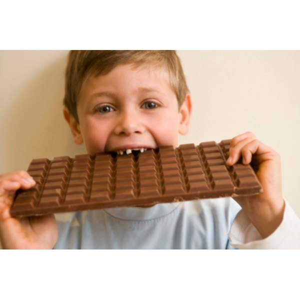 Chocolate bars are made from roasted coco beans and other ingredients.