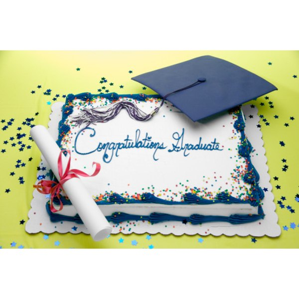 Serve your birthday graduate a cake he will love.
