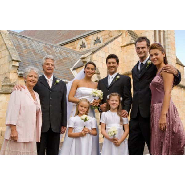 Most wedding receptions include a blessing offered by a friend or officiant.