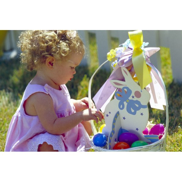 Put some fun gifts in an 18-month-old's Easter basket.
