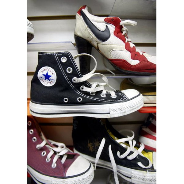 High tops can be laced several different ways.