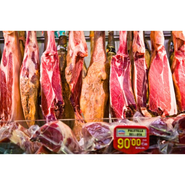 Meat products contain large amounts of protein.