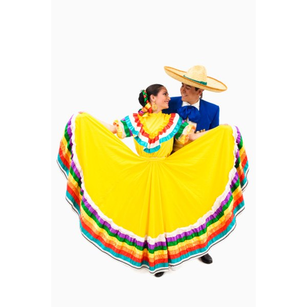 Mexican folklorico skirts traditionally use bright colors.