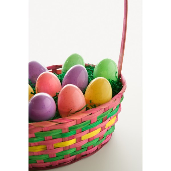 Easter baskets can be filled with toys, games or treats.