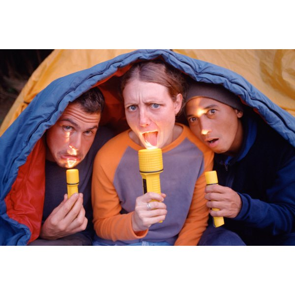 Outdoor silliness is part of the bonding experience of camping.