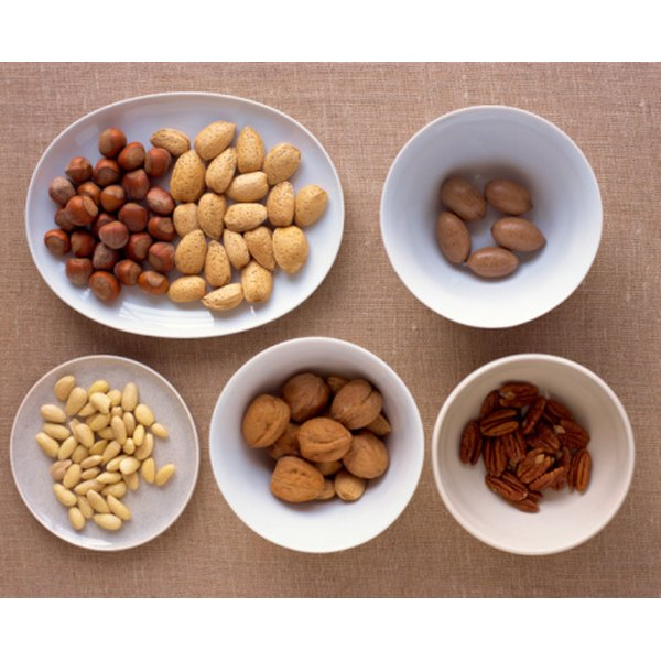 Some nuts contain more starch than others.