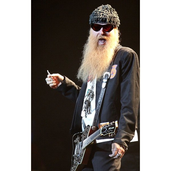 The rock band ZZ Top, which gained popularity in the 1980s, was known for its chest-length beards.