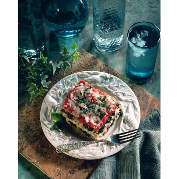 Spinach pairs well with tomato sauce in lasagna.