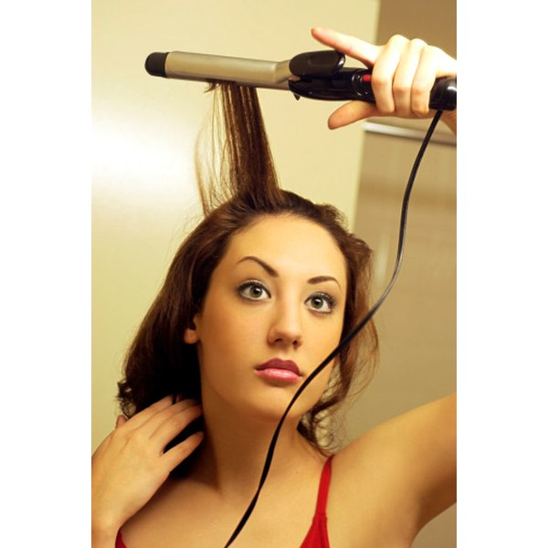A curling iron helps you transform your hairstyle.