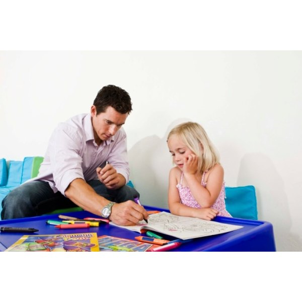 Art activities help a therapist build rapport with a child.
