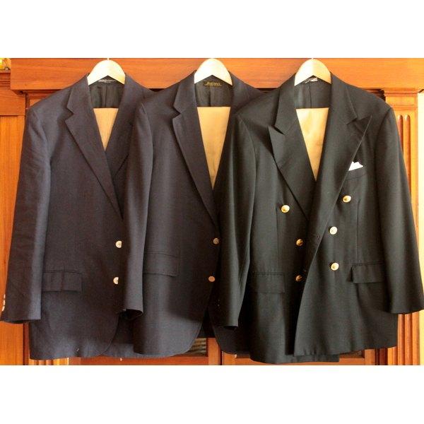A trio of classic navy blazers.