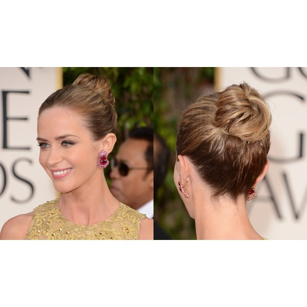 Buns are an easy go-to style that can fit every style.