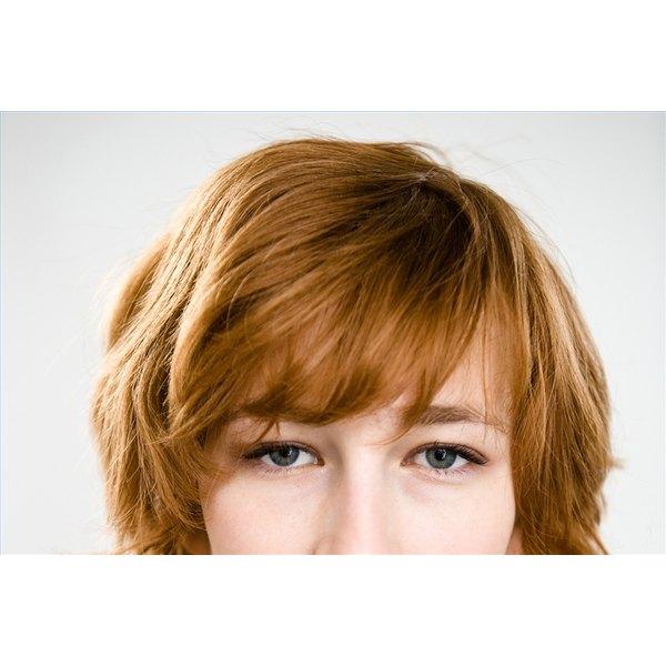 Cut Bangs in Long Hair