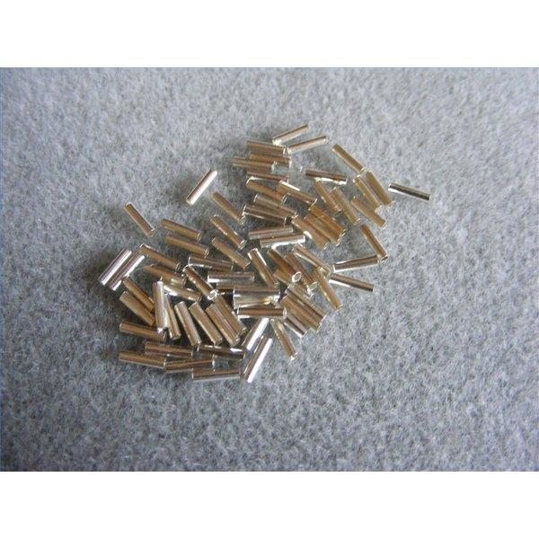 liquid silver tube beads