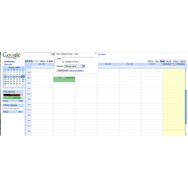 You can easily manage your entire family's schedule on Google calendar.
