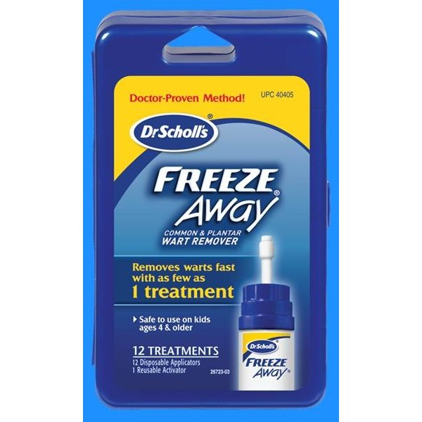 Use Dr. Scholl's Freeze Away Wart Remover