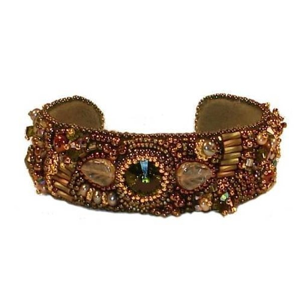 Bead embroidered cuffs are wearable art.