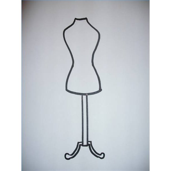 A dress-form drawing.