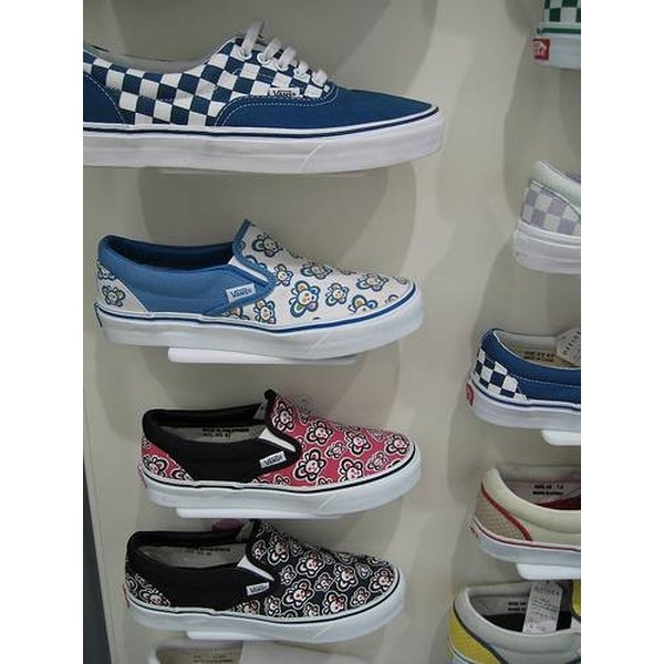 Vans on display