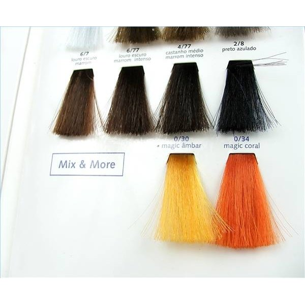 Hair color swatches.