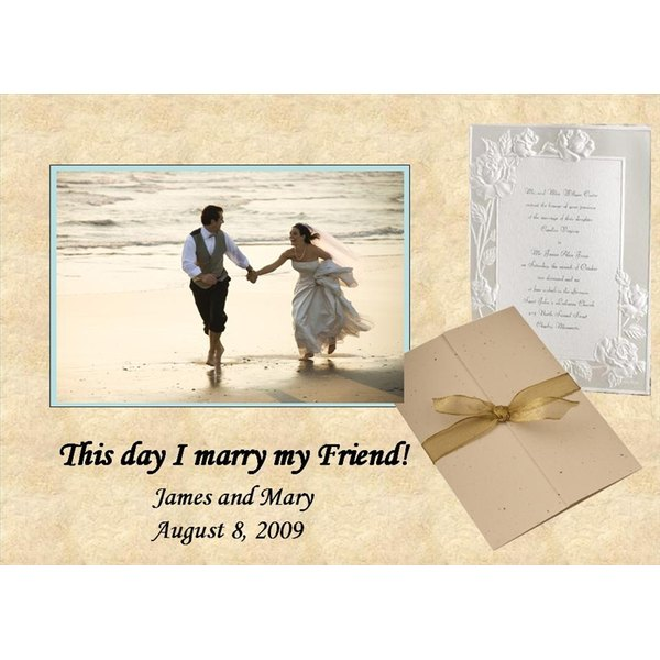 Framing your wedding invitation can take many forms