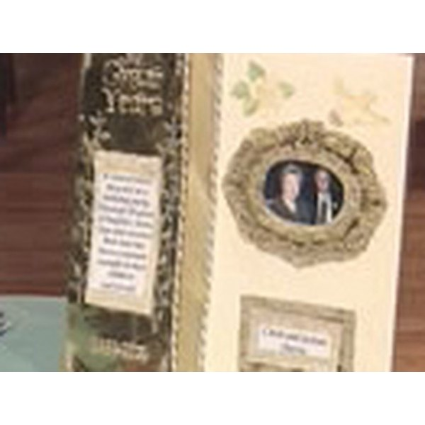 Create a beautiful memory scrapbook to celebrate a special couple's 50th anniversary.