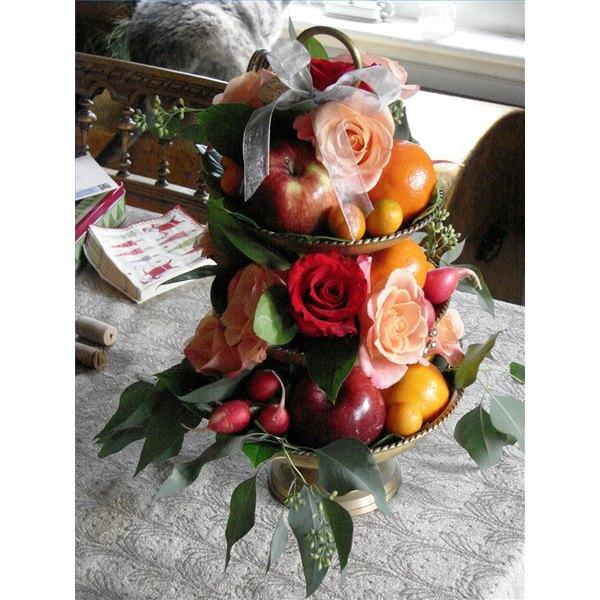 Flower and fruit centerpiece