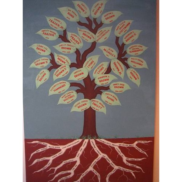 In this variation, the artist makes an individual leaf for each family member.