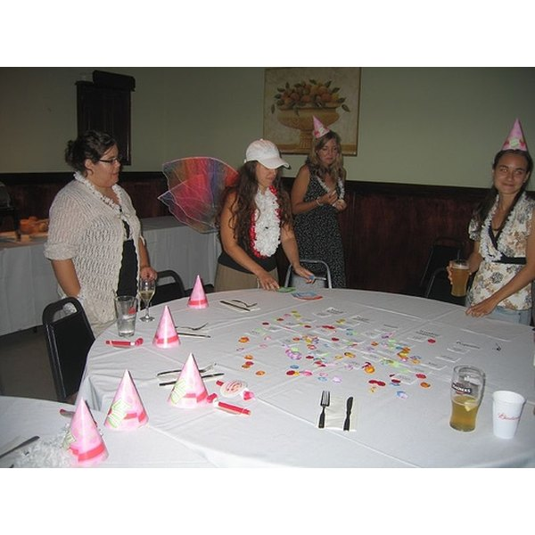 Gather the girls around the table or around the room for some unique bridal shower games.