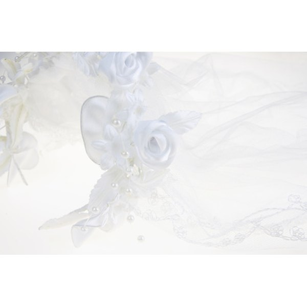 A beautiful accessory for any bride is a hand-made wedding veil.