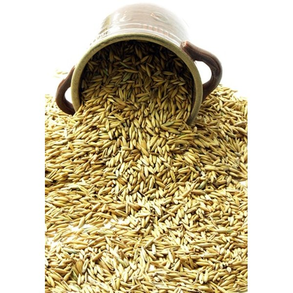Whole oats contain the bran on the exterior of the kernel.