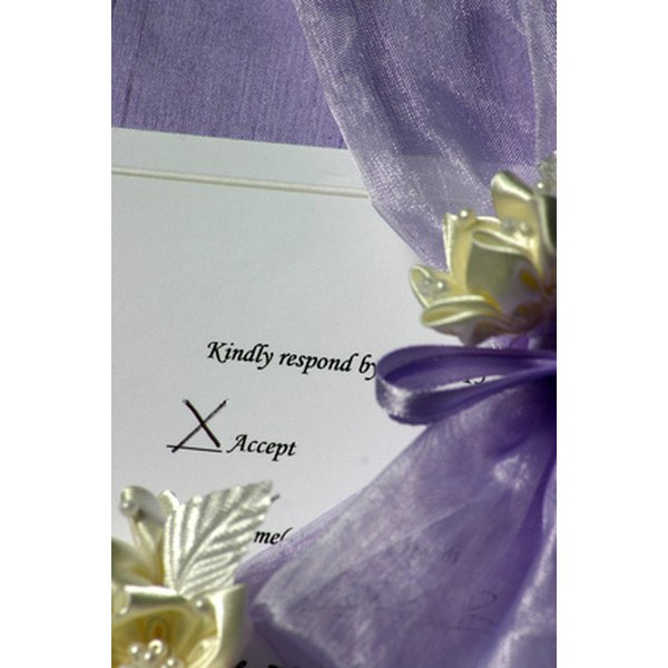 Addressing guests properly adds to the formal presentation of your wedding.