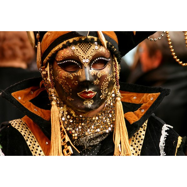 Dressing up for Mardi Gras can be a time-consuming process.