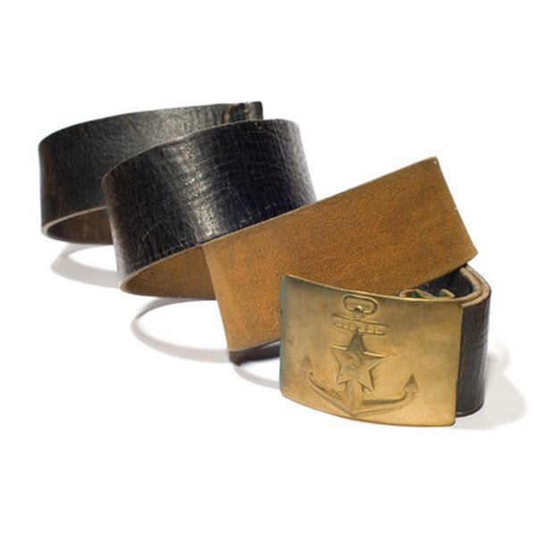 Full-grain cowhide belts