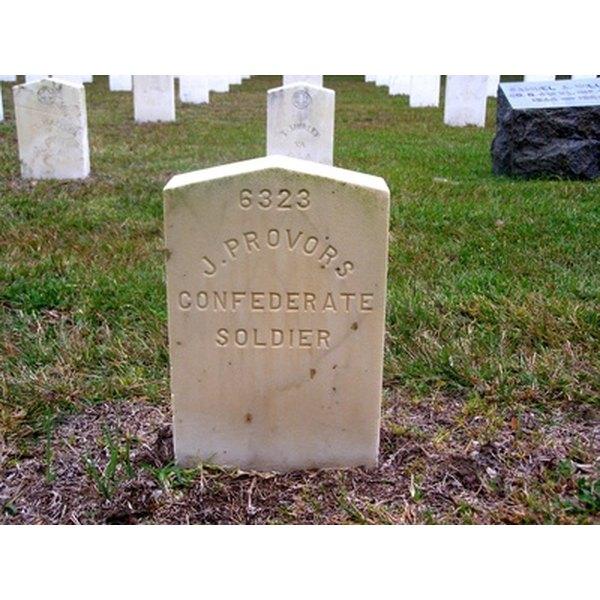 Family names are often found on gravestones.