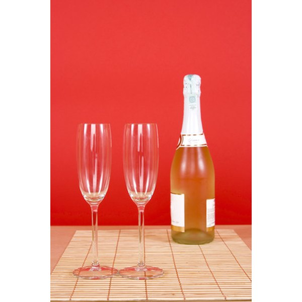A bottle of bubbly is the perfect start to a relaxing parents' night out.